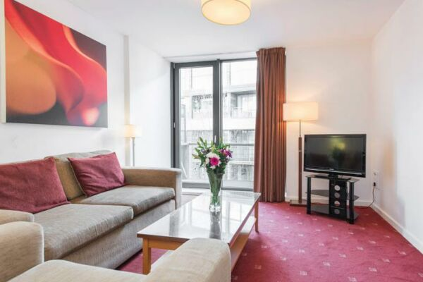 Living Area, Manchester Premier Serviced Apartments in Manchester
