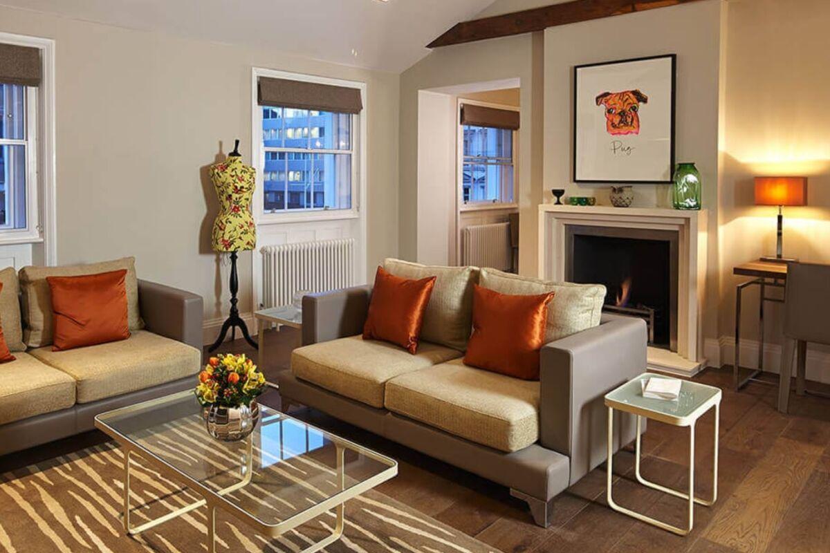 Sitting Area, Knightsbridge Serviced Apartments, Knightsbridge
