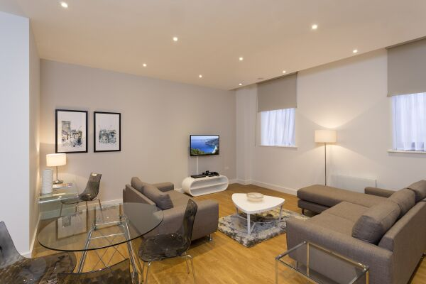 Living Room, Piccadilly Serviced Apartments in Manchester