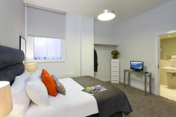 Bedroom, Piccadilly Serviced Apartments in Manchester