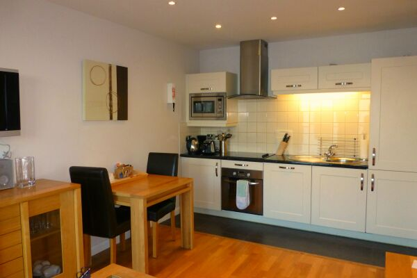 Kitchen and Dining Area, Liberty Wharf Serviced Apartments, Jersey