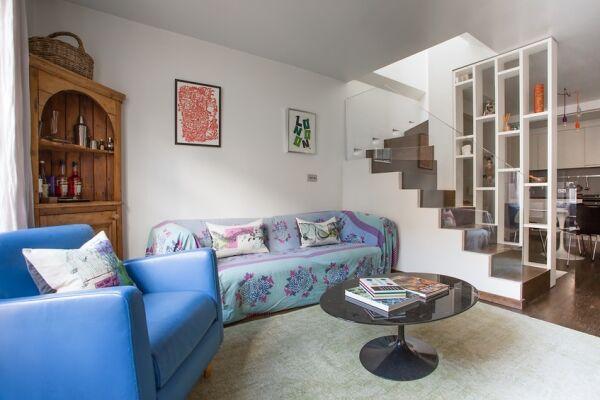 Living Area, Rutland Mews South Serviced Apartment, London