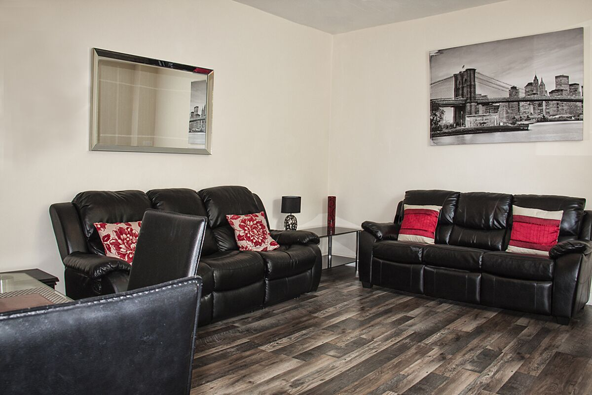 Living Area, Jersey Lodge Serviced Accommodation, Swansea