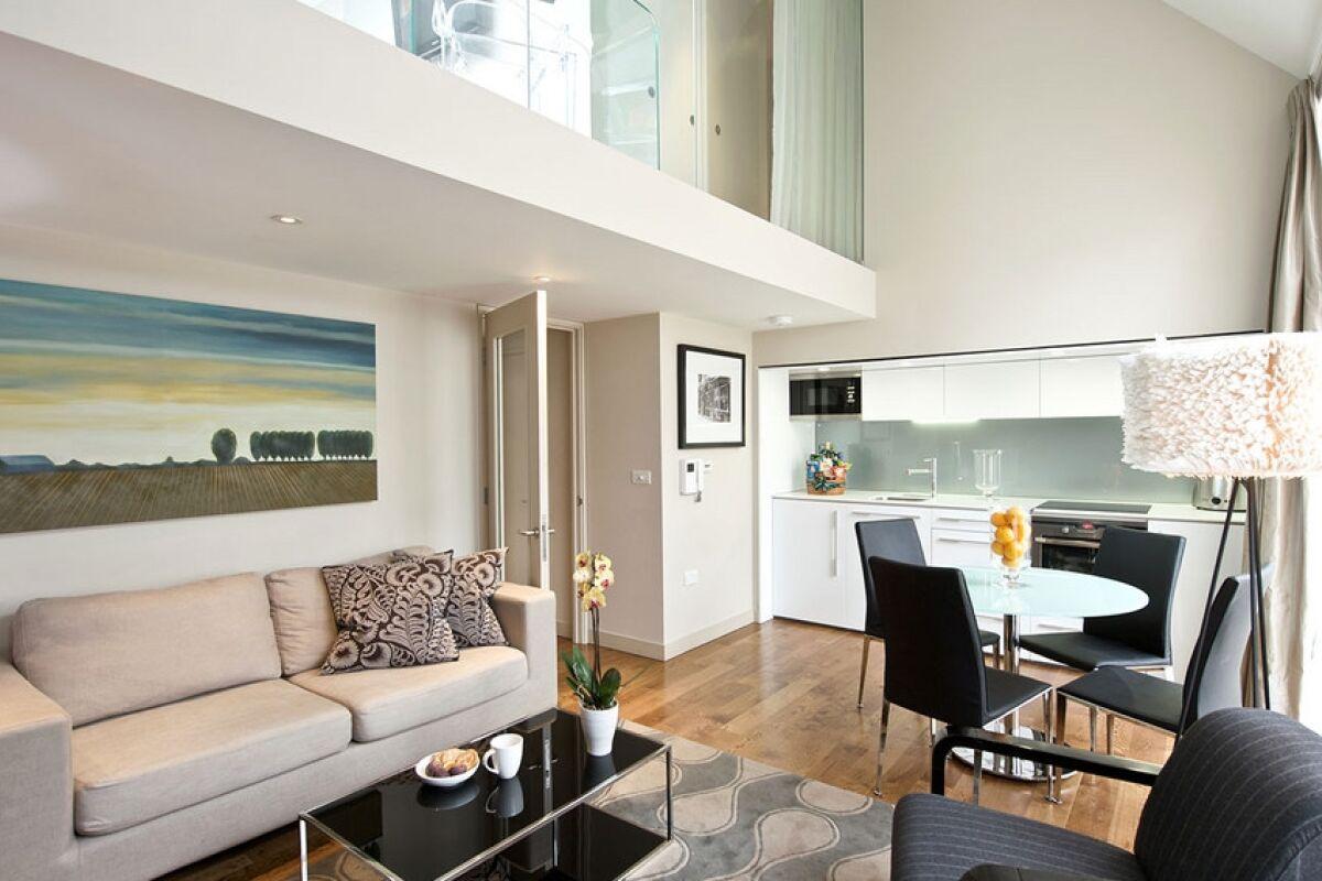 Living room, Bishopsgate Serviced Apartment, London