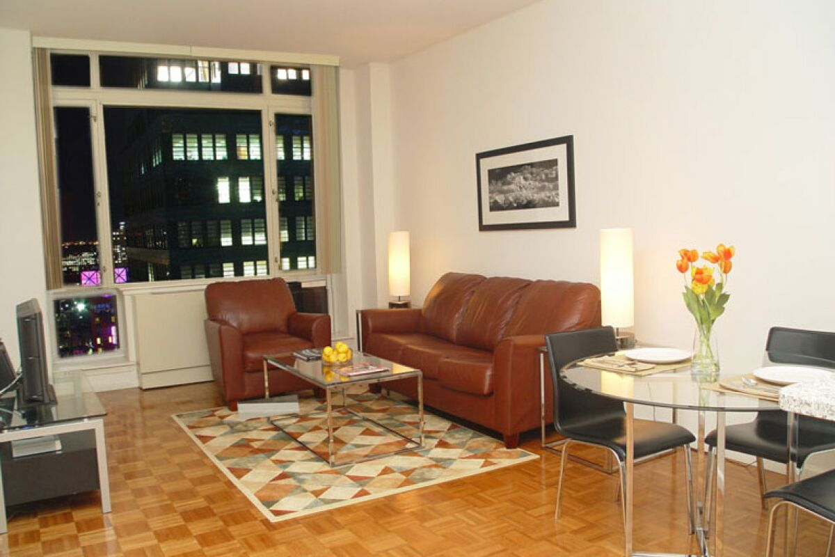 Living Area,  Ivy Tower Serviced Apartments, New York
