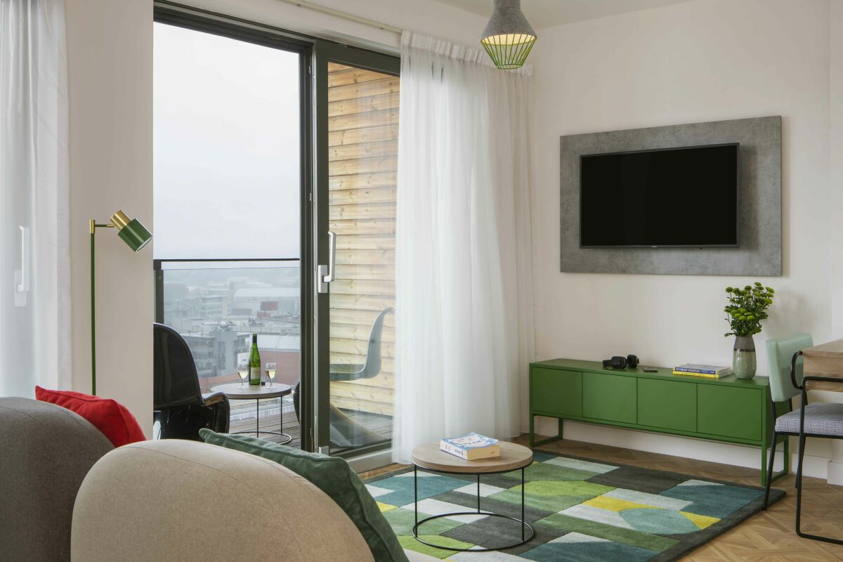 Living Area, Church Street Serviced Apartments in Manchester