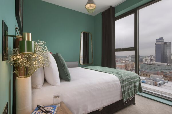 Bedroom, Church Street Serviced Apartments in Manchester