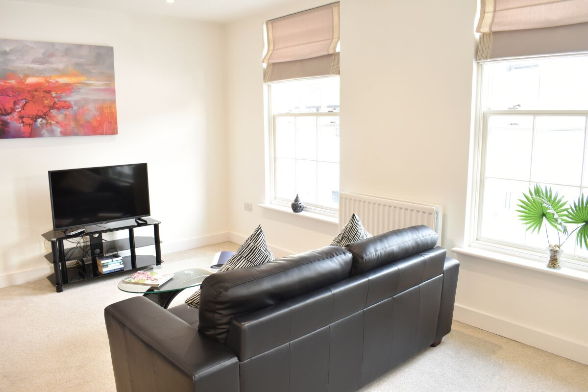 Living Area, Regency Place Serviced Accommodation, Cheltenham