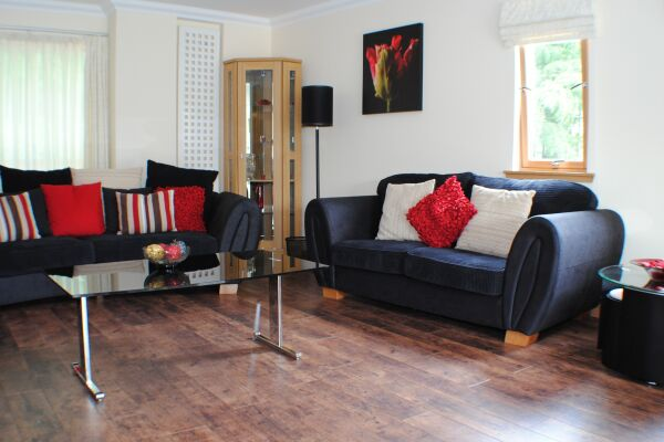 Living Area, Wellwood Mansions Serviced Apartments, Aberdeen