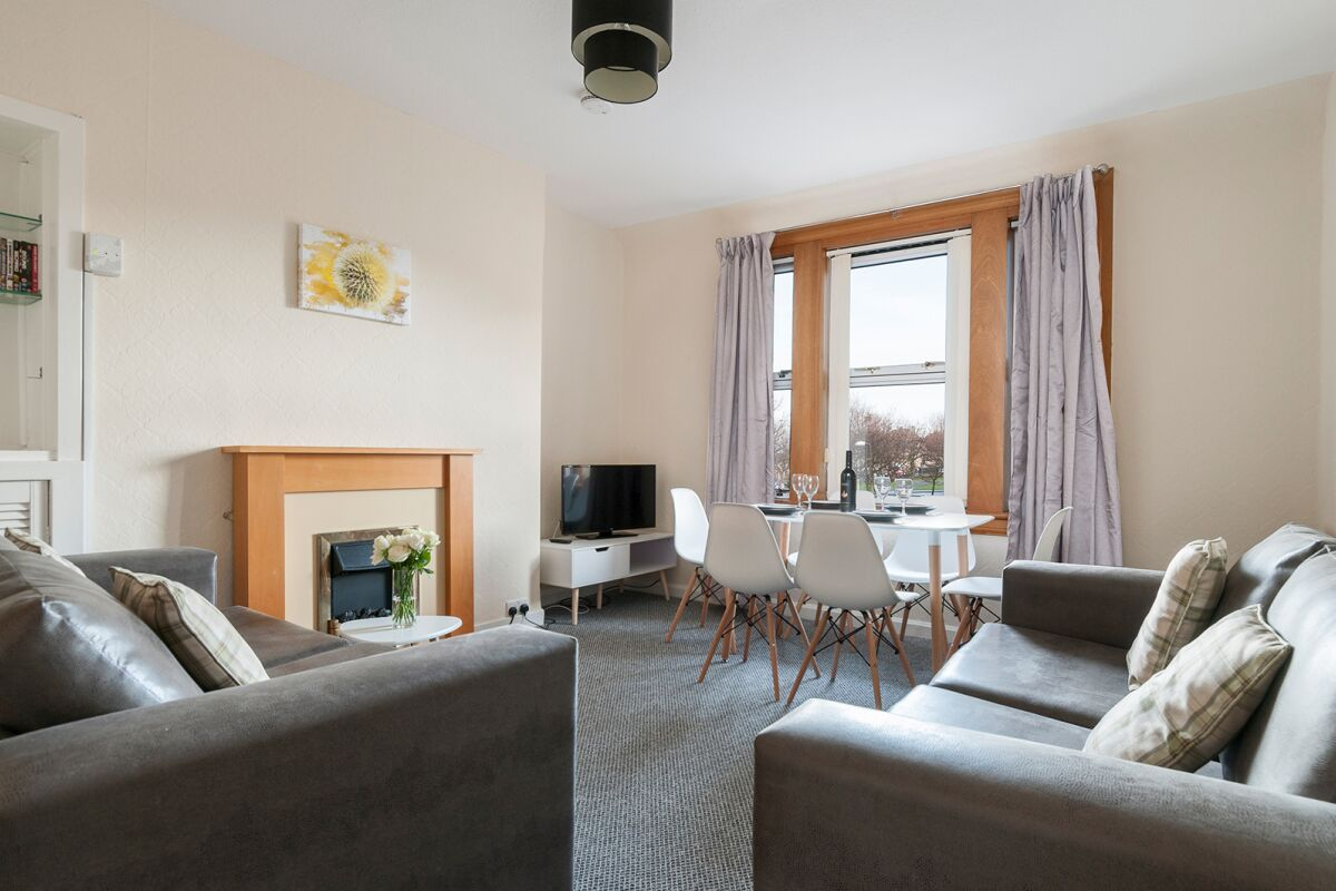 Living Area, Clements Serviced Apartment, Musselburgh