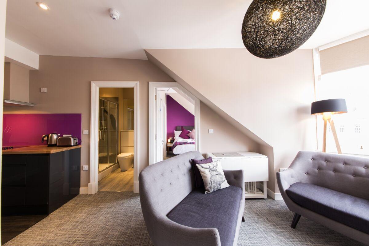 Living Room, Hanover Street Serviced Apartments, Edinburgh