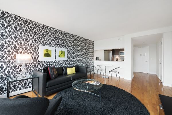 Living Room, Living Room, The Olivia Serviced Apartments, New York