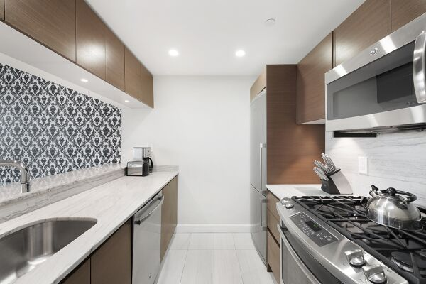 Kitchen, Living Room, The Olivia Serviced Apartments, New York