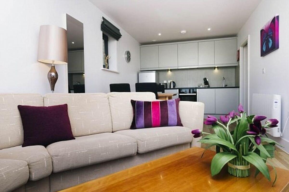 Living Room, Eden House Serviced Apartments, Cambridge