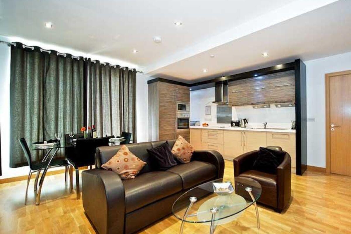 Living Room, Springside Serviced Apartments, Edinburgh