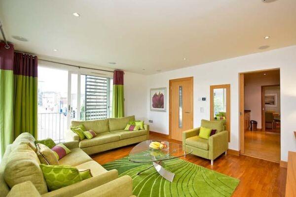 Living Room, Leamington Wharf Townhouse