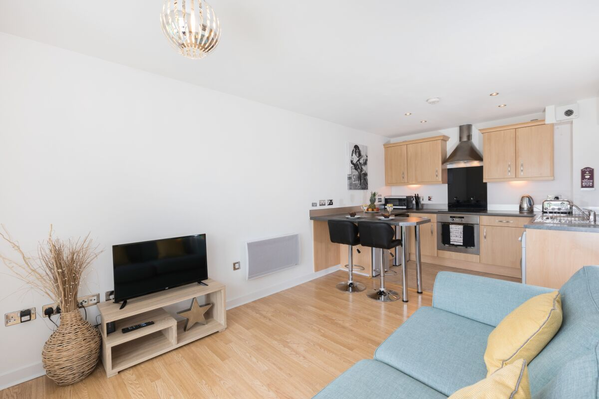 Living Area, Liberty View Serviced Apartment, Swansea