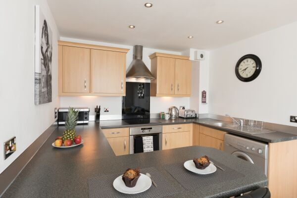 Kitchen, Liberty View Serviced Apartment, Swansea