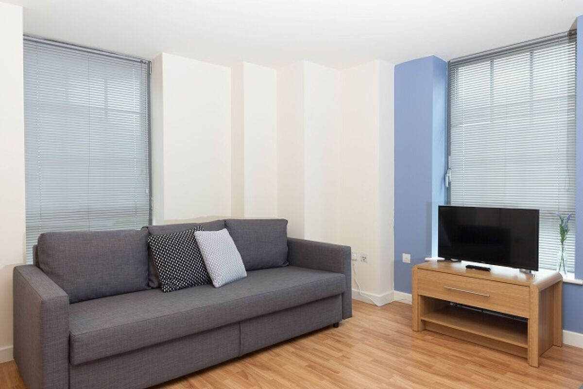 Living Area, Hicking Dye Works Serviced Apartment, Nottingham