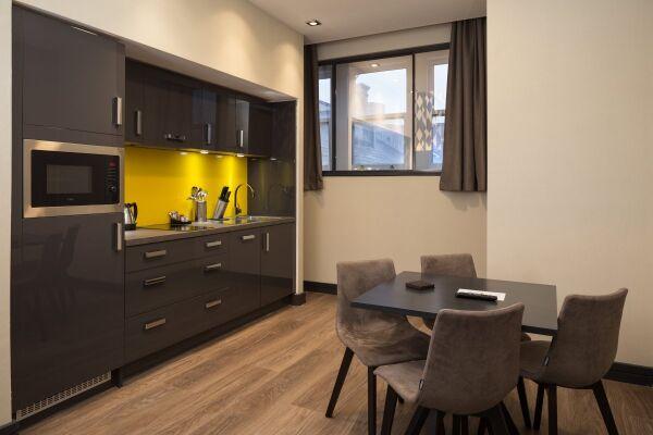 Kitchen, Corn Exchange Serviced Apartments in Manchester