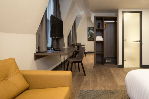 Lounge, Corn Exchange Serviced Apartments in Manchester