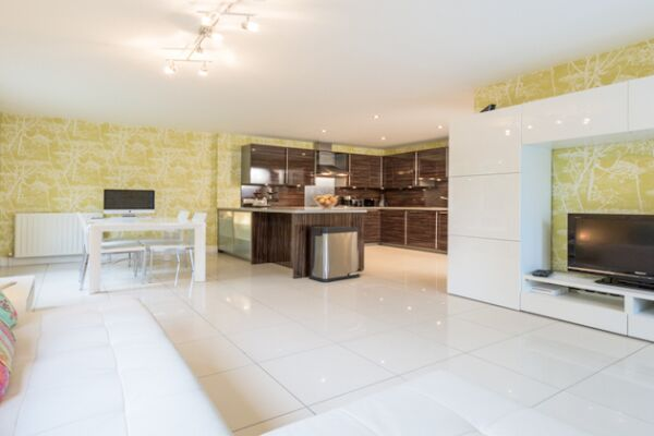 Open Plan Living Area, Woodlands Serviced Accommodation, Aberdeen