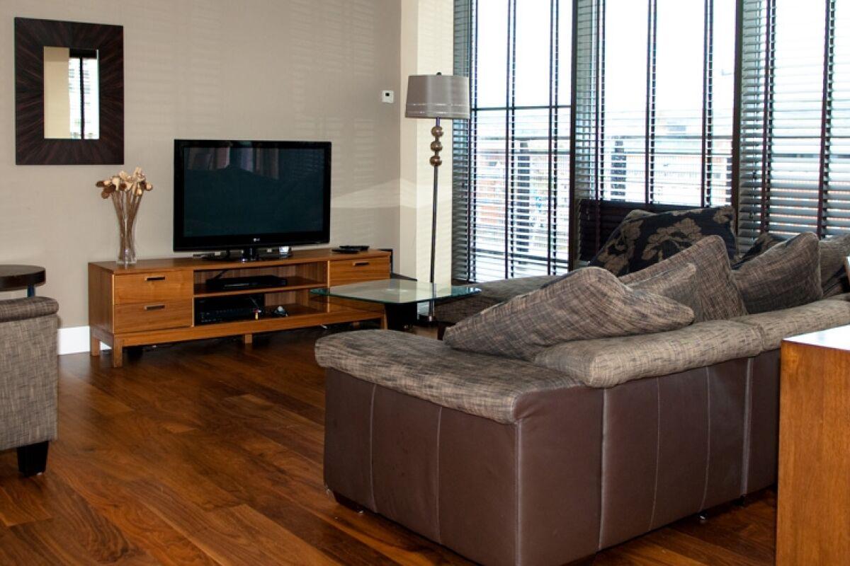 Living Room, Custom House Serviced Apartments, Belfast