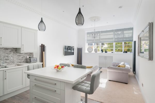 Open plan living and kitchen area
