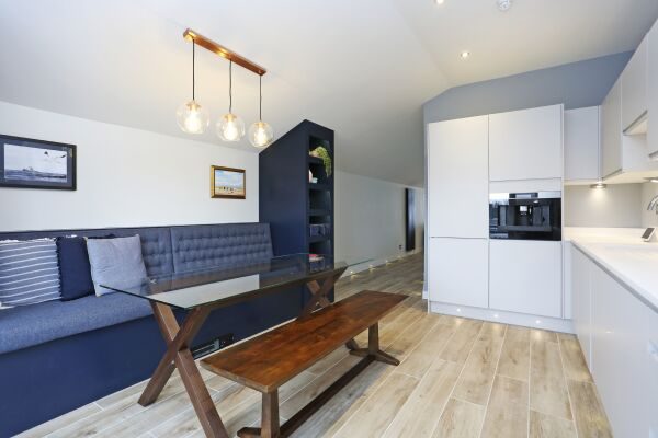 Kitchen and bench sitting area