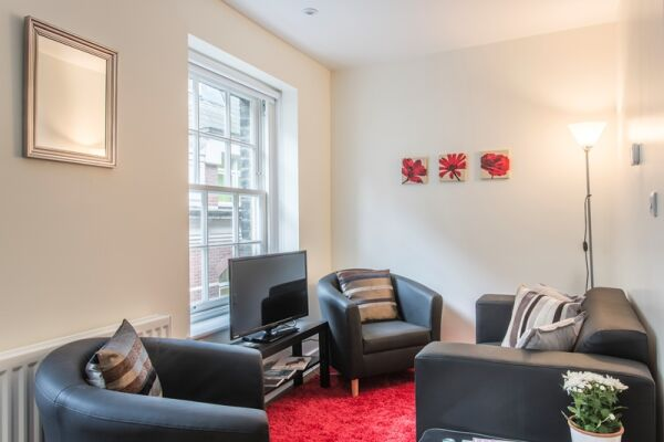 Living Room, Artillery Lane Serviced Apartments, The City of London