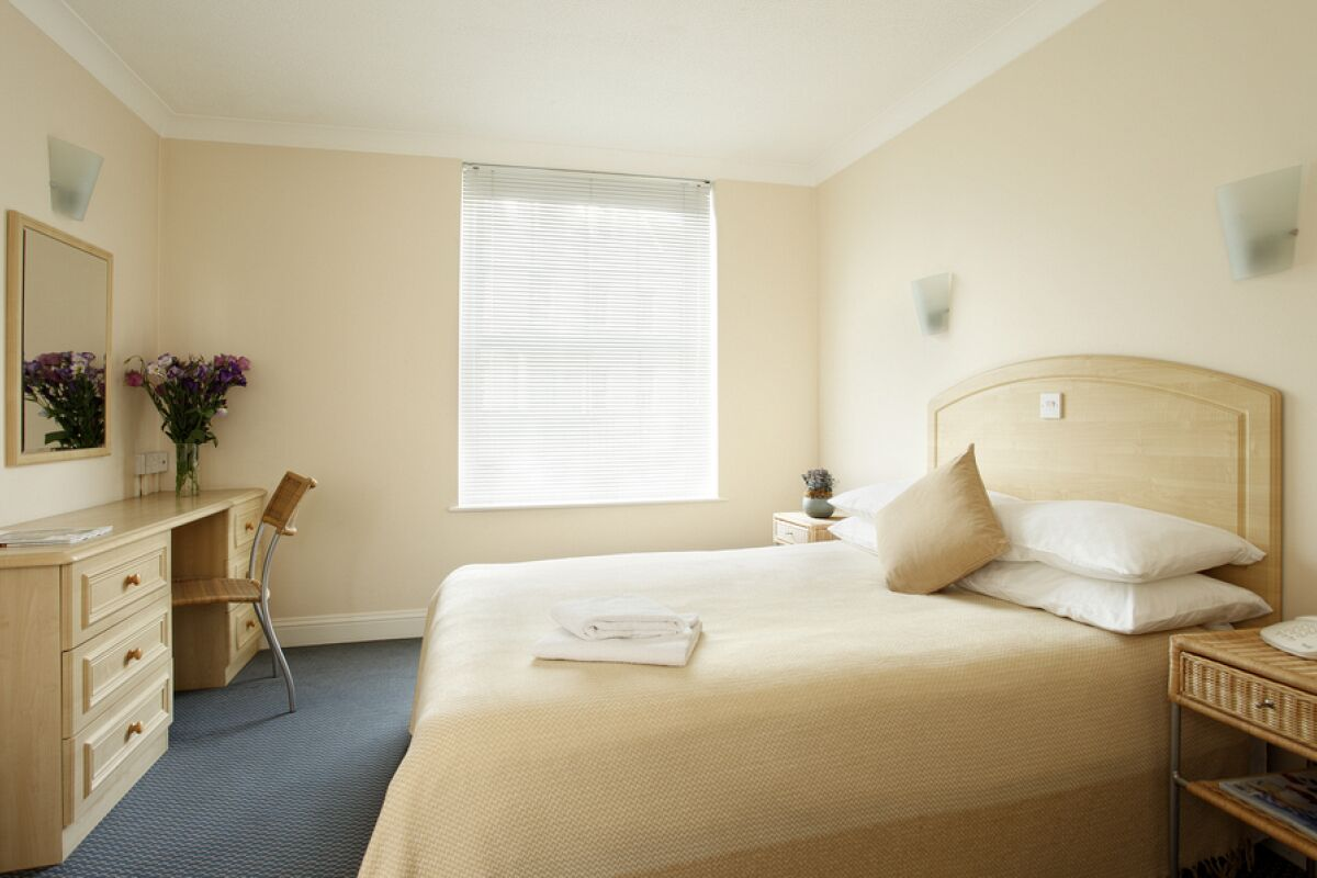 Bedroom, Merlin House Serviced Apartments, Jersey