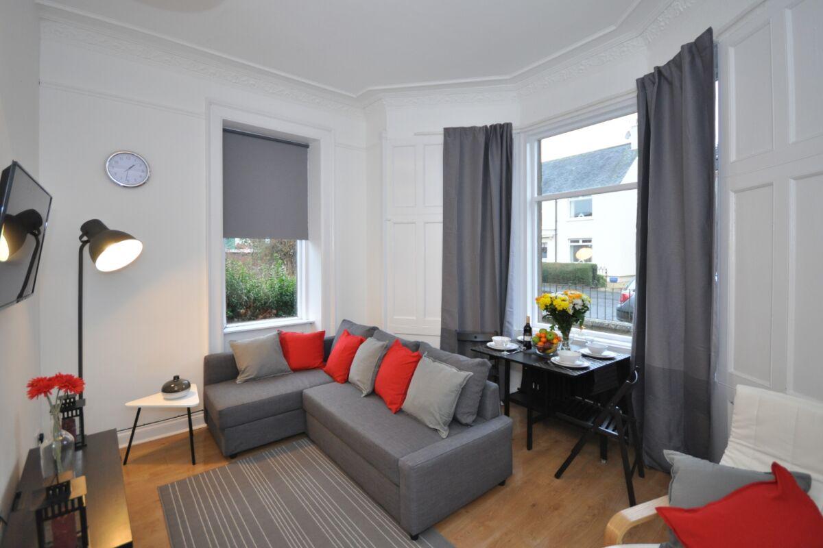 Living Area, Hope House Serviced Accommodation, Glasgow