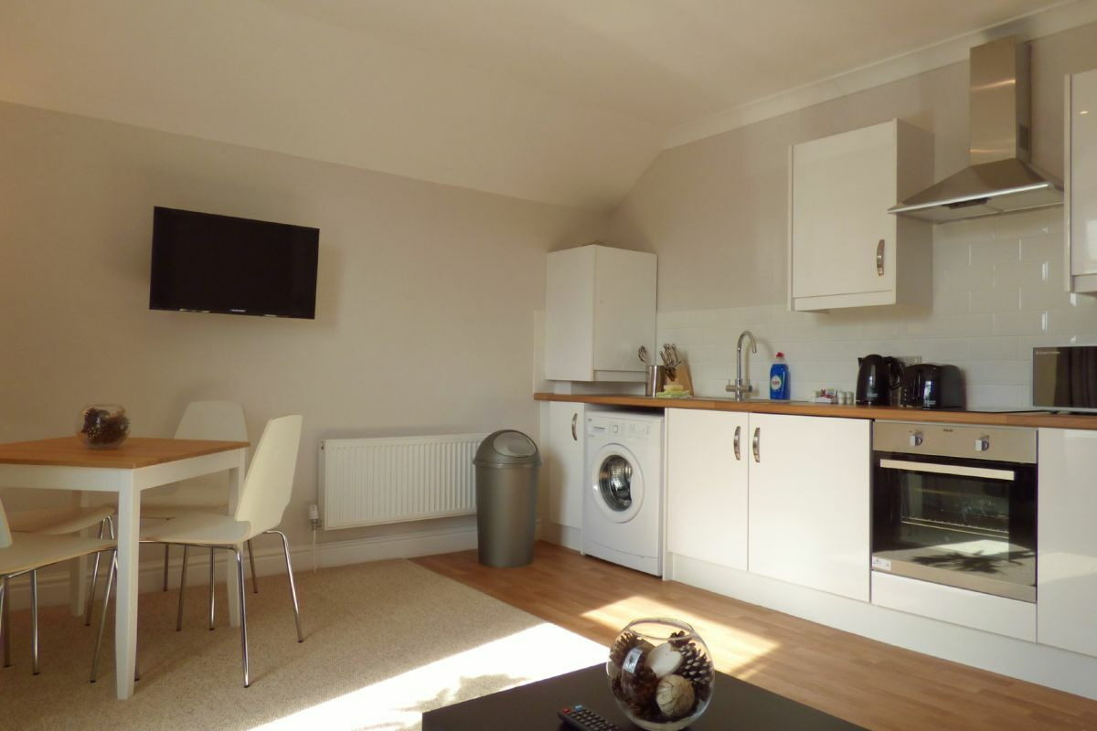 Kitchen, Cathedral Road Apartments (A), Cardiff